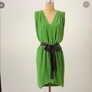 Anthropologie Laurel Silk High-Low Dress